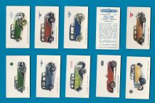 Collectable Cigarette cards Motor Cars 1934, Bentley, etc